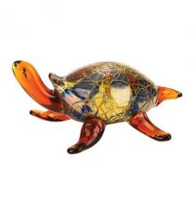 Badash Crystal Art J580 Glass Firestorm Small Turtle