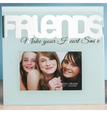 6* x 4* Glass Photo Frame- Friends