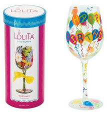 Birthday Balloons Wine Glass By Lolita # 140