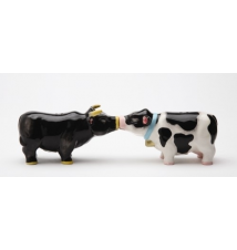 Bull and Cow Salt and Pepper Shakers