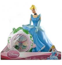 Disney Princess Cinderella Coin Bank and Alarm Clock