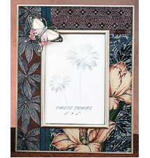 Brown Butterfly Picture Frame