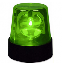 7* Police Warning Siren Light Green - Rotating