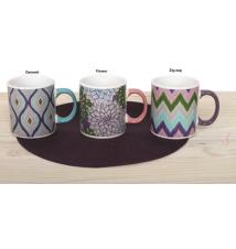 Dennis East*s Tri-Color Art Jumbo Mug