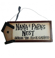 *Nana and Papa*s Nest Where The Flock Gathers!* Wood Sign