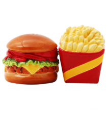Burger And Fries Magnetic Salt and Pepper Shakers #151