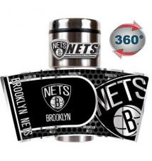 Brooklyn Nets Travel Metallic Thermos
