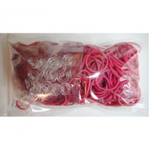 Genuine Choons Rainbow Looms  Fuchsia #053 600 Pcs Refill Bands
