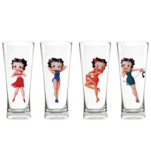 Betty Boop *Pin Up* Flared Pilsners - Set of 4