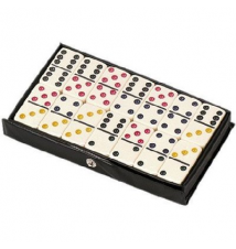 Double 6 Professional Color Dot Dominoes In Game Tin