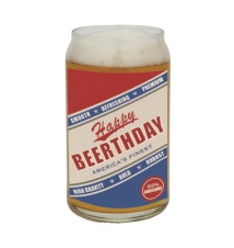 *Happy Beerthday* Beer Can Glass