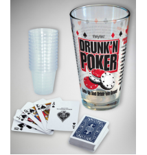 Drunk*n Poker Ante Up And Drink *em Down Pint Glass Game