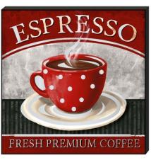 *Espresso Fresh Premium Coffee* Mirror Wall Plaque