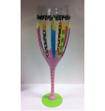 Giant Wine Glass- Birthday Candle