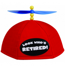 Big Mouth Toys Look Who*s Retired - Propeller Beanie