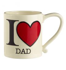 Amscan I Heart Dad 16oz Coffee Mug