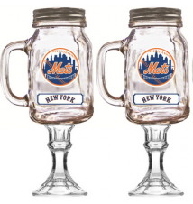2 Pack New York Mets Redneck Beer/Wine Glass