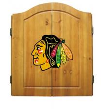 Chicago Blackhawks Dart Board Cabinet