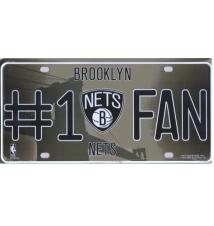 Brooklyn Nets #1 Fan License Plate