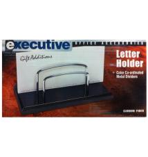 Executive Black Letter Holder- Carbon Fiber