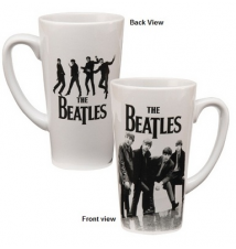 Beatles Black And White Latte Mug
