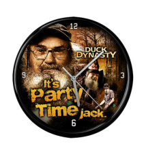 Duck Dynasty It*s Party Time Jack Wall Clock
