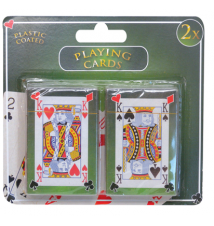 2 Pack Plastic Coated Playing Cards