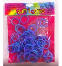 Fun Loops Tye Dye Bandz- Purple Blue #029