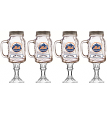 4  Pack New York Mets Redneck Beer/Wine Glass
