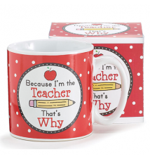 *Because I*m The Teacher That*s Why* Ceramic Mug
