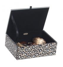 Candy Mirrored Beveled Glass Jewelry Box #273