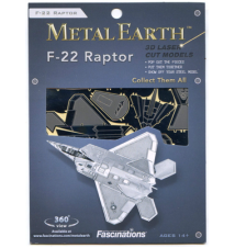 F-22 Raptor Metal Earth 3D Laser Cut Model By Fascinations #014