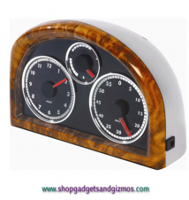 Dashboard Clock with White LED Dial
