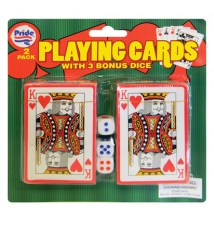2 Pack Playing Cards With Bonus Dice