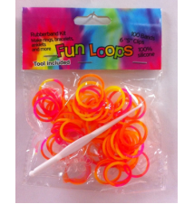 Fun Loops Tye Dye Bandz- Yellow-Orange #073