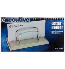 Executive White Letter Holder- Flex Silver