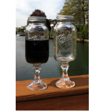 2 PACK  -  Redneck Mega Guzzler Wine Glass 32oz