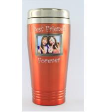 Best Friends Forever Stainless Photo Travel Mug