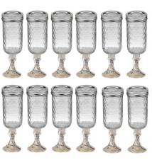 12 PACK  -  Redneck Champagne Flute Glass 12oz