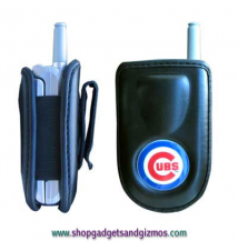 Chicago Cubs Leather Cell Phone Pouch