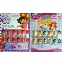 Dora The Explorer / Disney Princess Press-On Nails
