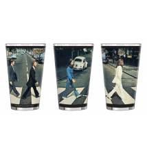 Boelter Brands The Beatles Sublimated Pint Glass- 16-Ounce- Abby Road