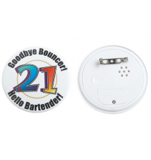 Flashing Musical Birthday Button - Age 21