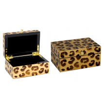 Coromandel Arts Leopard Print Jewelry Treasure Box #268