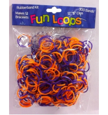 Fun Loops Two Tone Bands #117- Orange/Purple