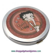 Betty Boop Bed Of Roses Jeweled Compact Mirror