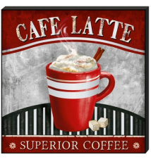 *Cafe Latte Superior Coffee* Mirror Wall Plaque