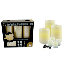 11 Piece Flameless LED Candle Collection Vanilla Scented