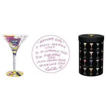 Birthday Girl Martini Glass by Lolita Love My Martini #28