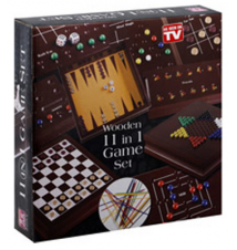 Game World Wooden 11 in 1 Game Set